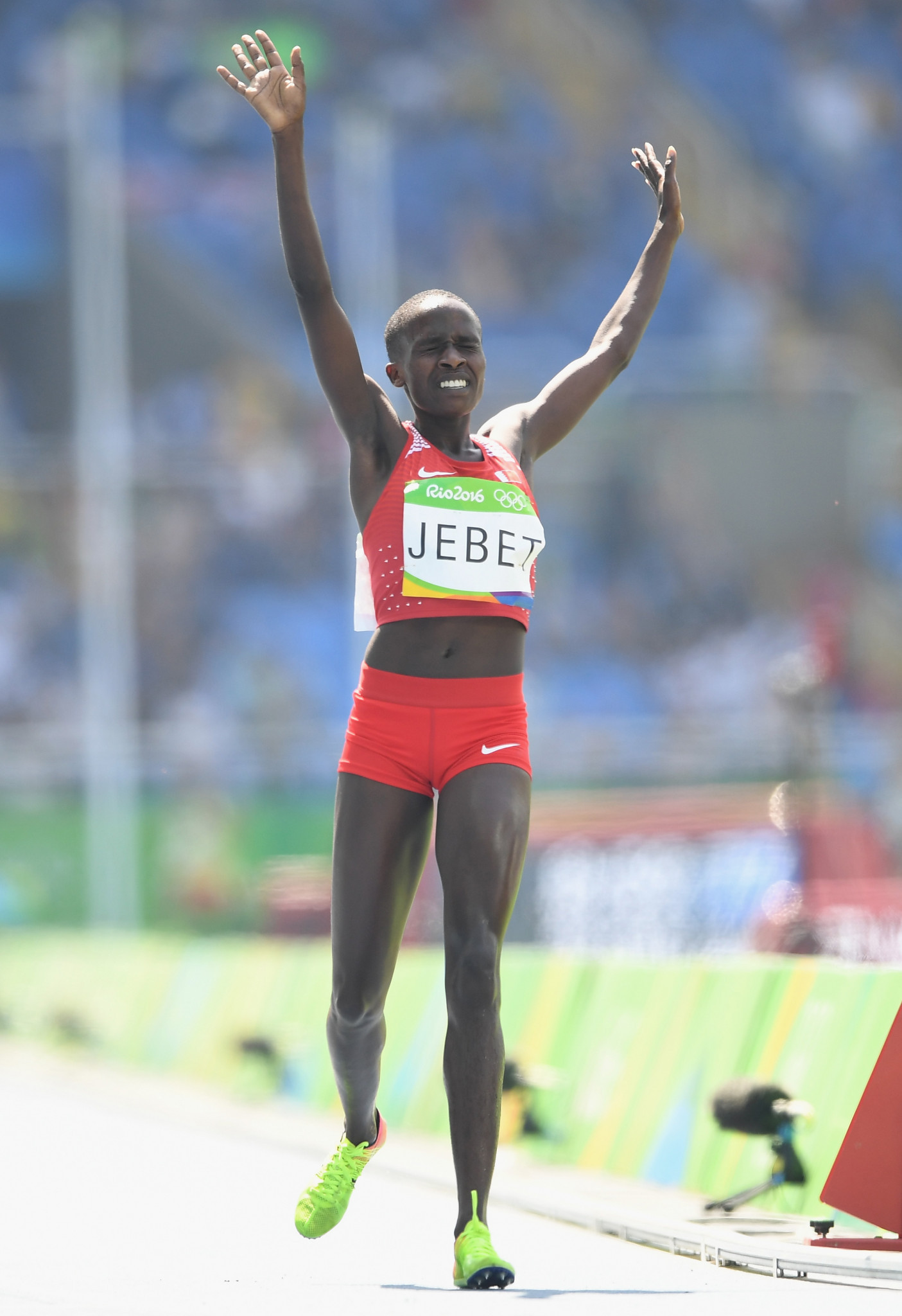 Rio 2016 gold medallist Ruth Jebet will be one of the favourites for Sunday's race ©Getty Images