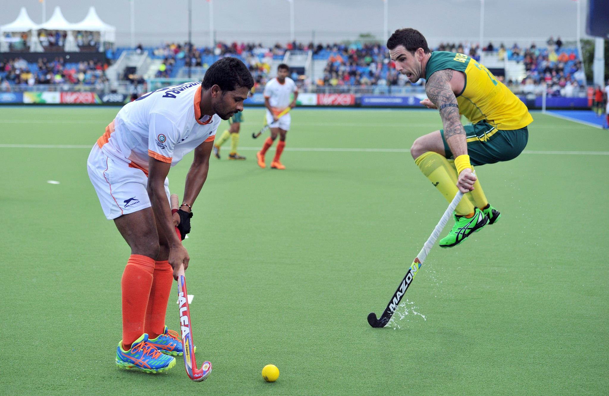 India lost the Glasgow 2014 men's hockey final to Australia ©Getty Images