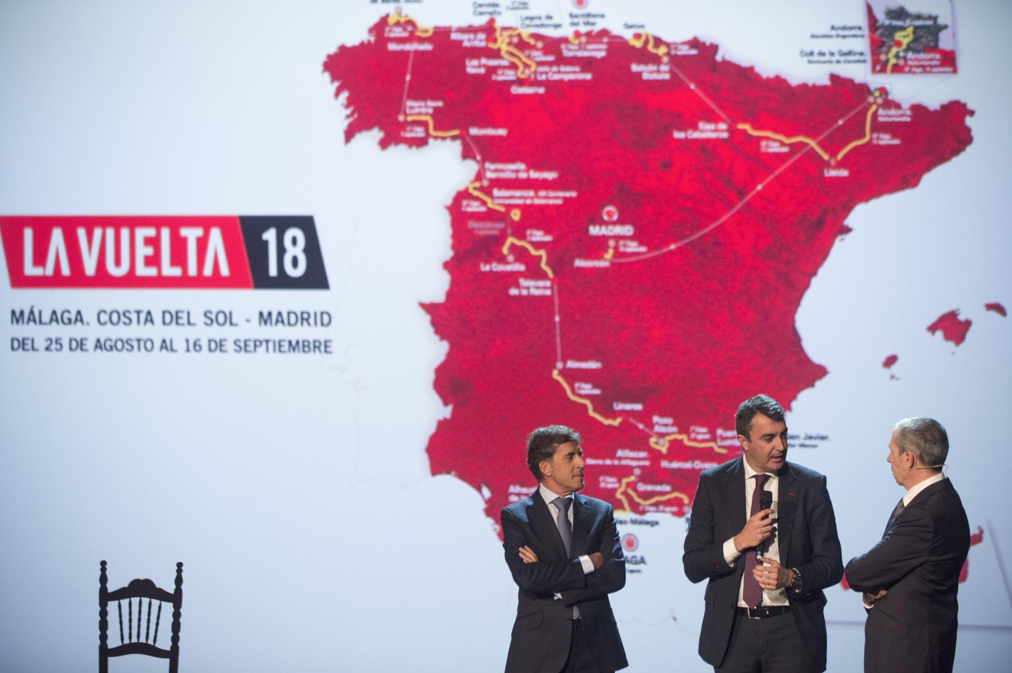 Organisers unveil route for 2018 Vuelta a España