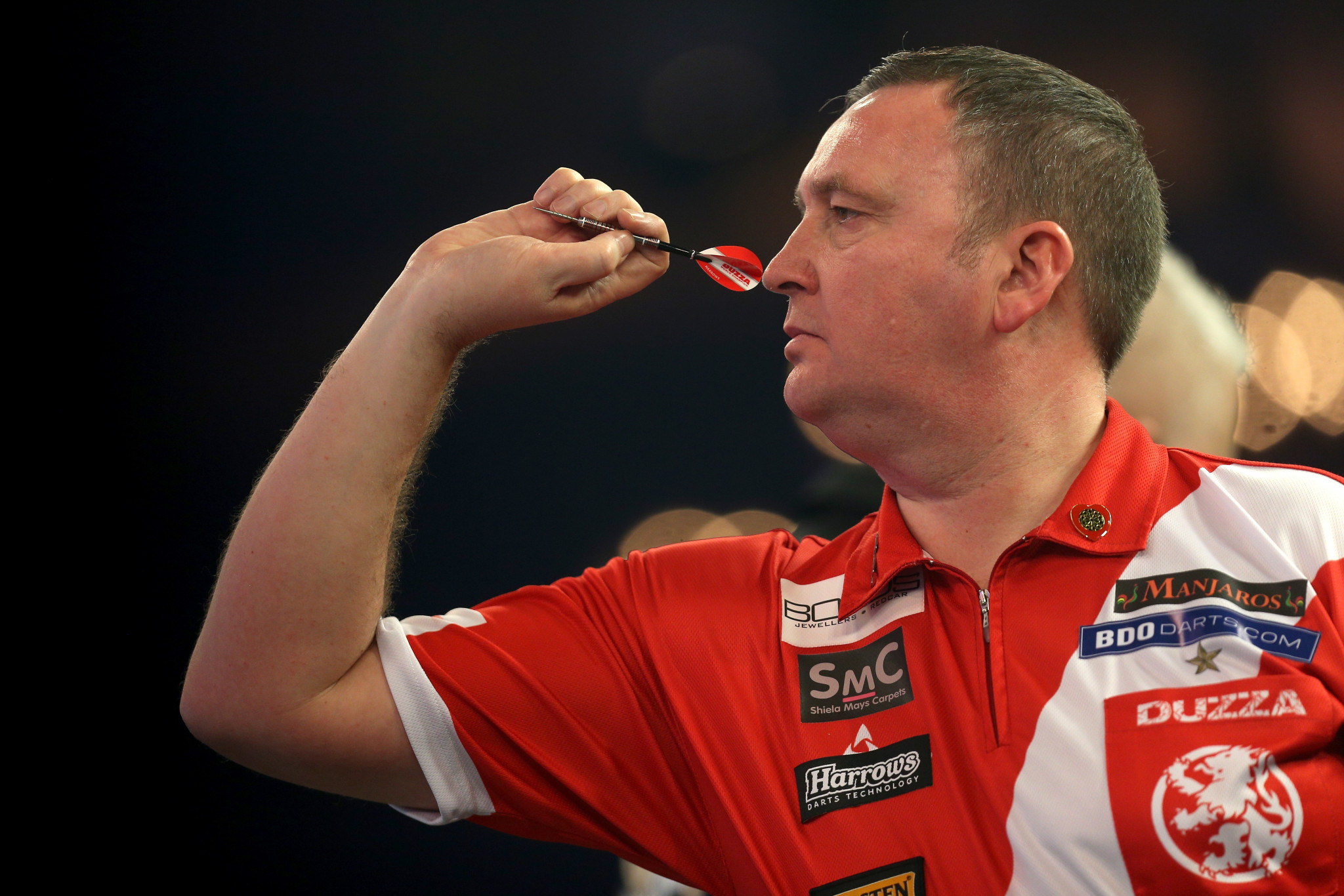 To seed Glen Durrant is eyeing back-to-back BDO World titles ©Getty Images