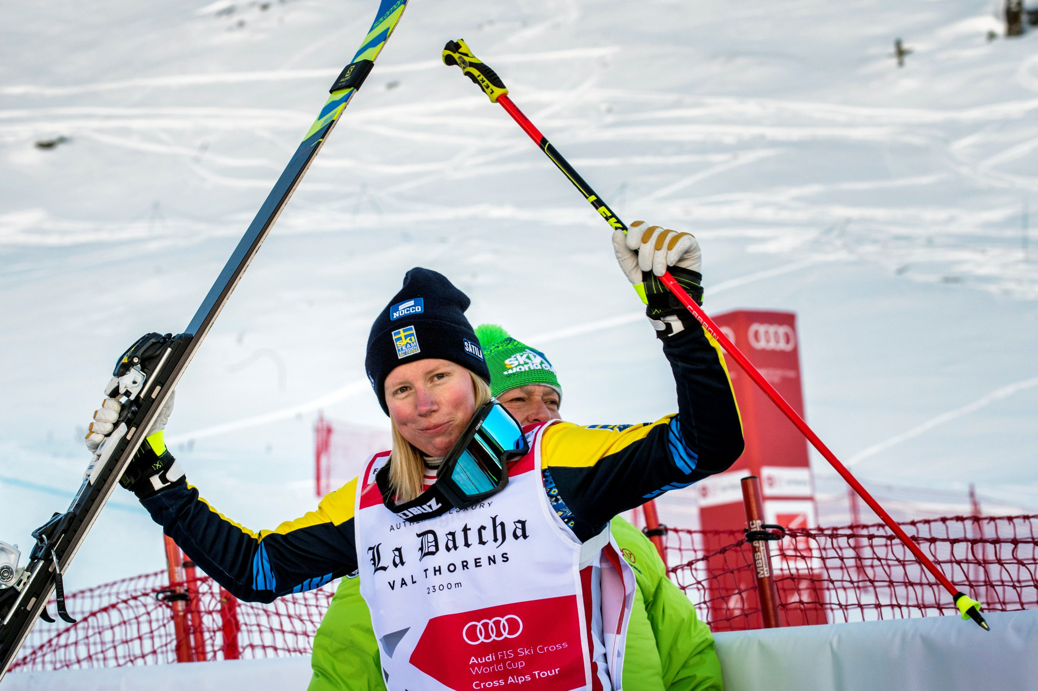 Competition favourite Näslund claims ski cross gold on home snow