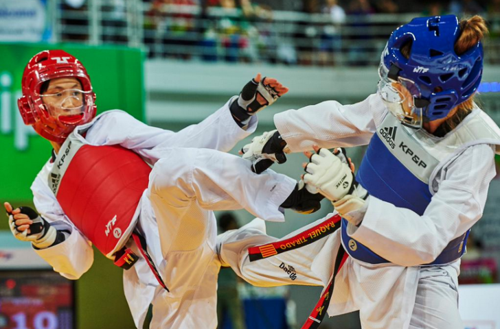 A KP&P protector and scoring system was adopted at the World Cadet Taekwondo Championships