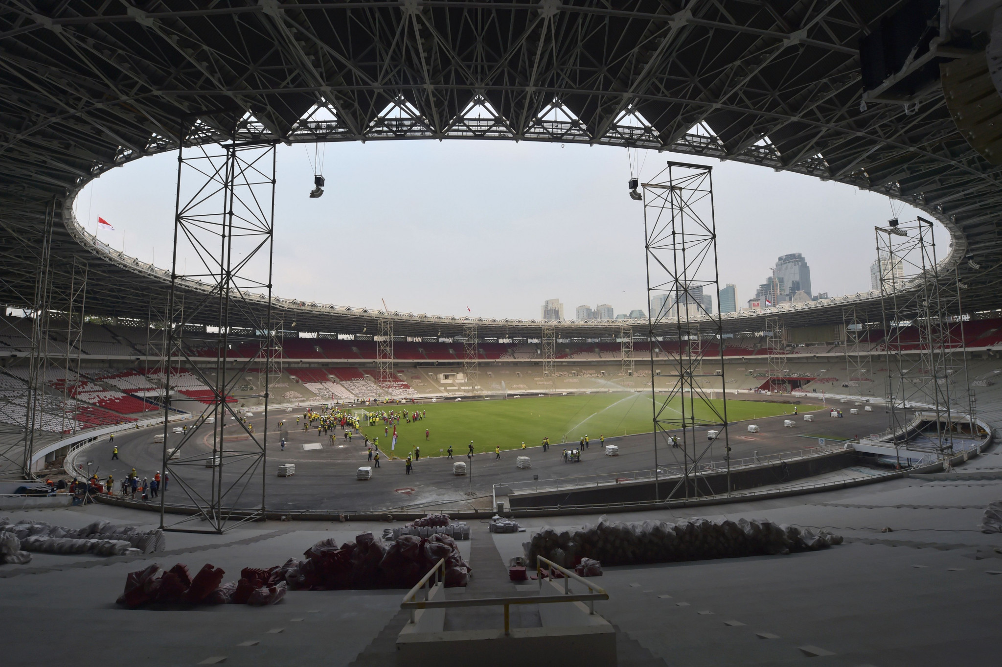 Renovations have been completed at the Gelora Bung Karno Main Stadium ©Getty Images