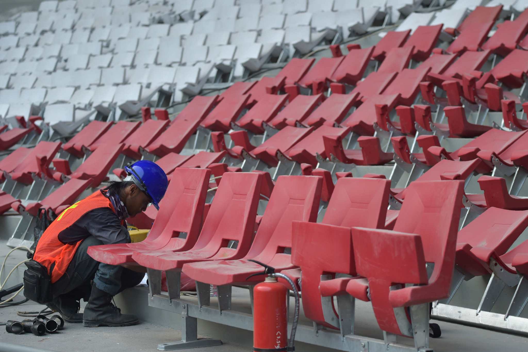 Renovation work included installing seats to replace benches ©Getty Images