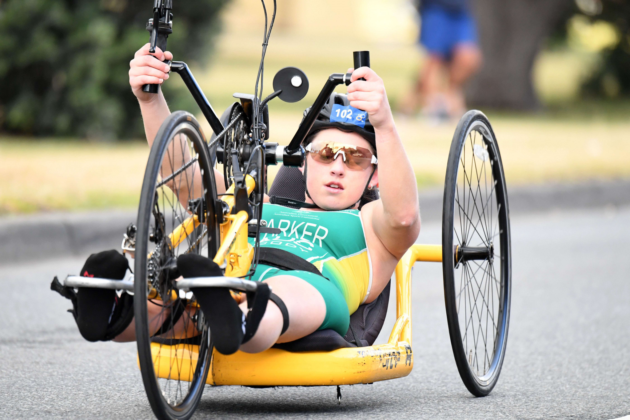 Parker makes sensational Para-triathlon switch just months after life-changing accident