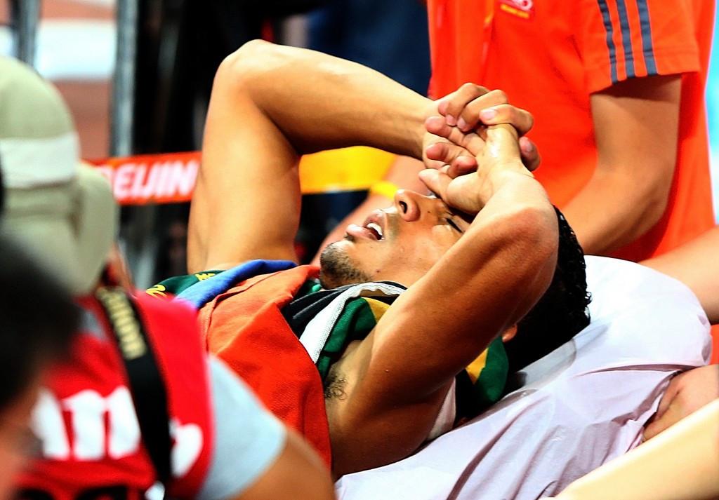Van Niekerk hospitalised after 400m win on day of Yego's giant javelin throw