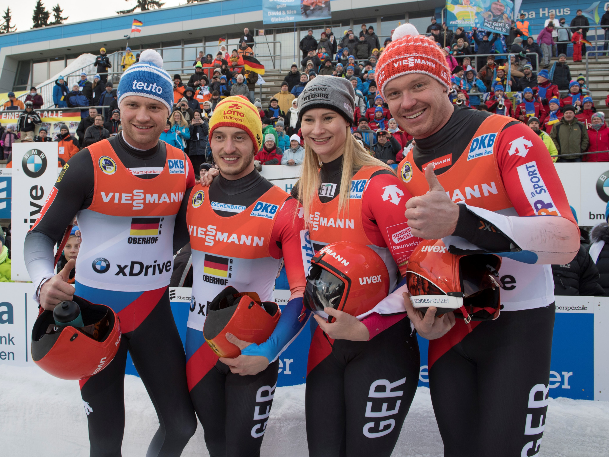 Germany won the team relay in a track record time ©FIL