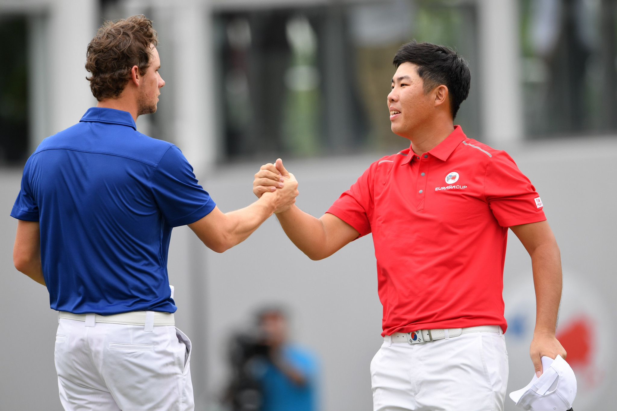 Belgium's Thomas Pieters scored the winning point by beating South Korea's Byeong Hun An by one hole