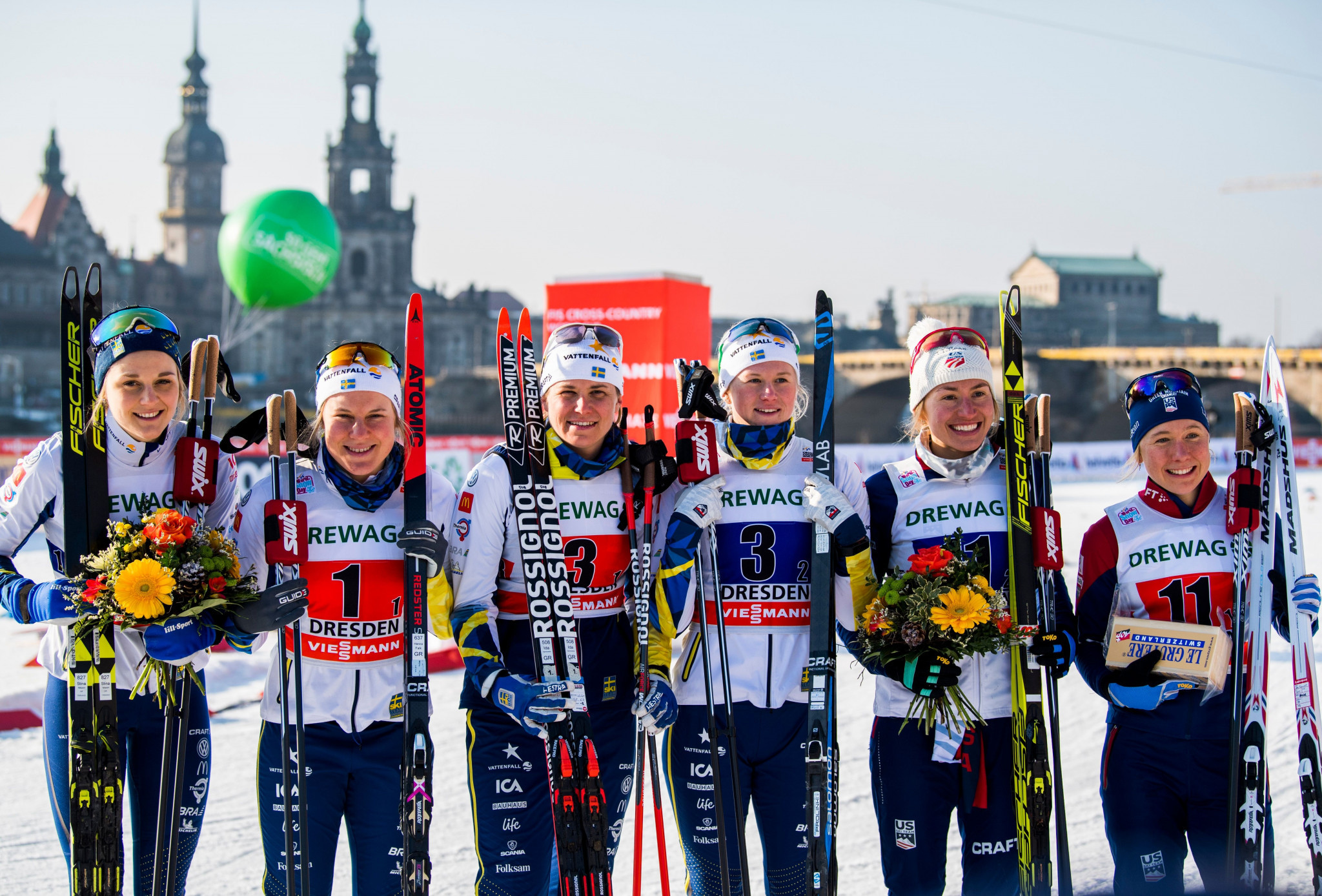 Italy and Sweden win team sprints at FIS Cross-Country World Cup in Dresden