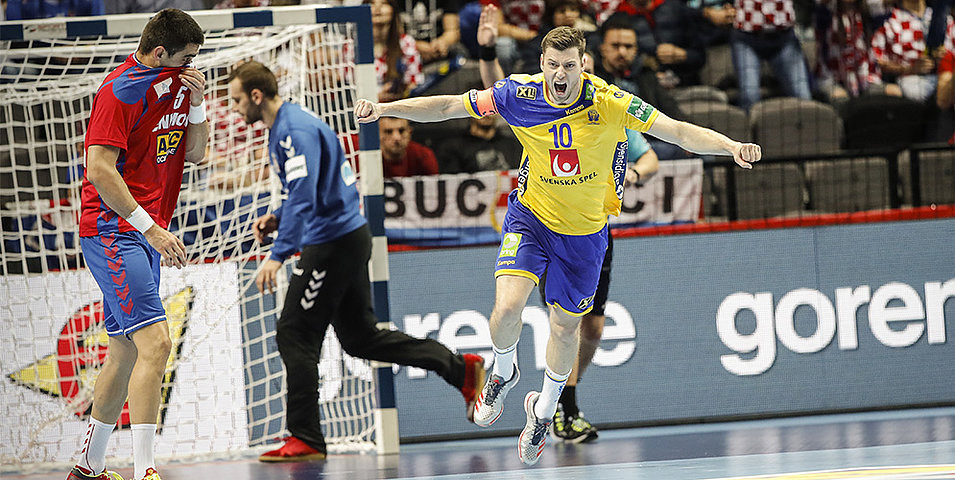 Sweden hold off Serbia to claim first win at 2018 European Men's Handball Championships