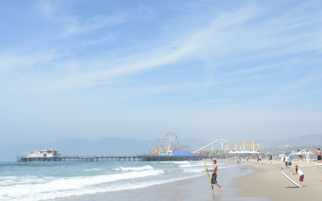 The temporary skateboarding venue would be built as part of the Coastal Cluster, which includes Santa Monica beach