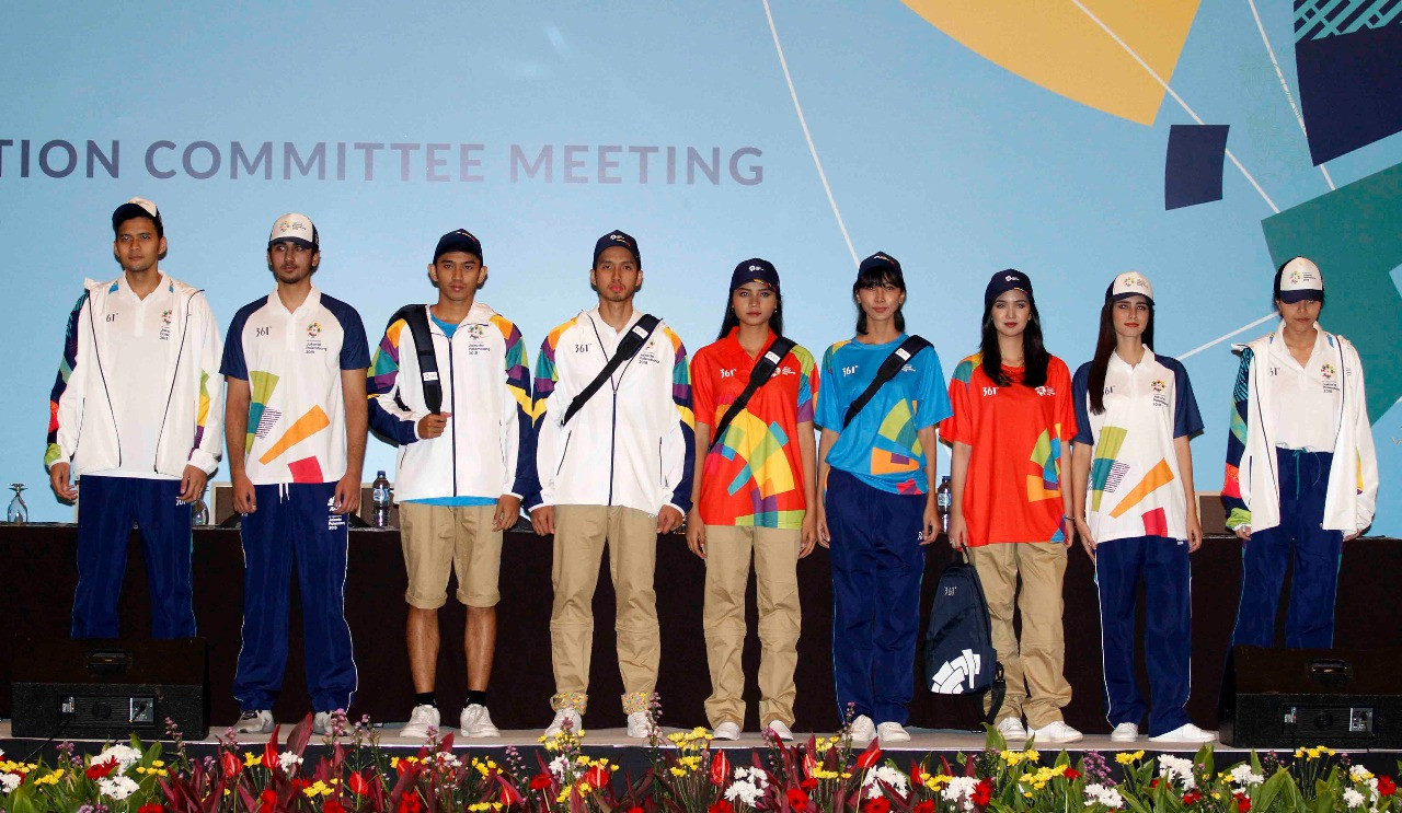 The official uniform for the Asian Games was revealed during the Coordination Committee visit ©OCA