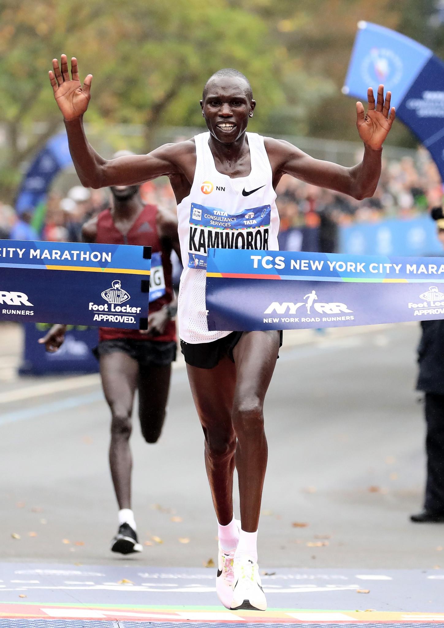 Geoffrey Kamworor triumphed at last year's New York City Marathon ©Getty Images