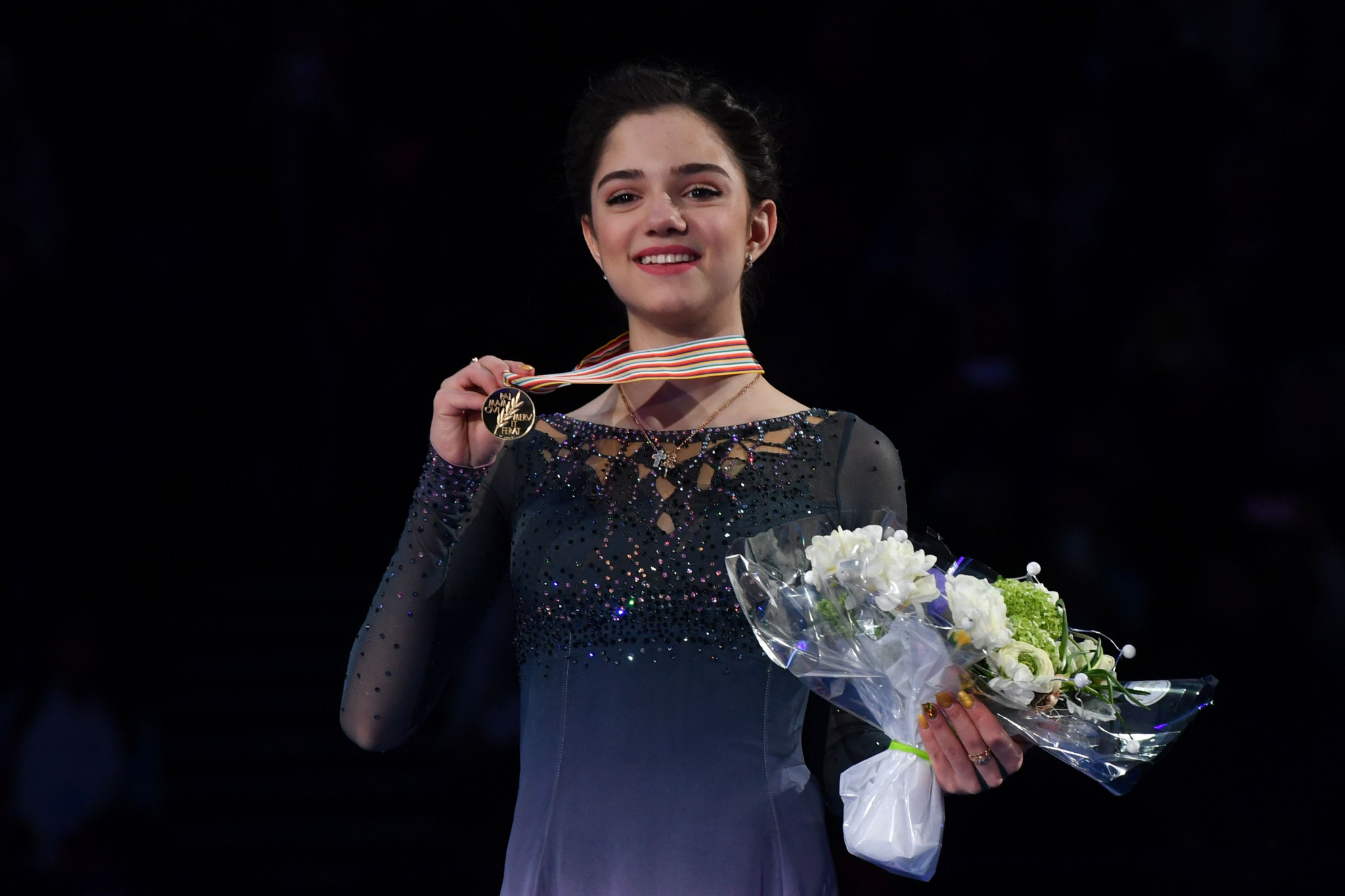 Russia's Evgenia Medvedeva is to return to competitive figure skating after sustaining an injury in October ©Getty Images
