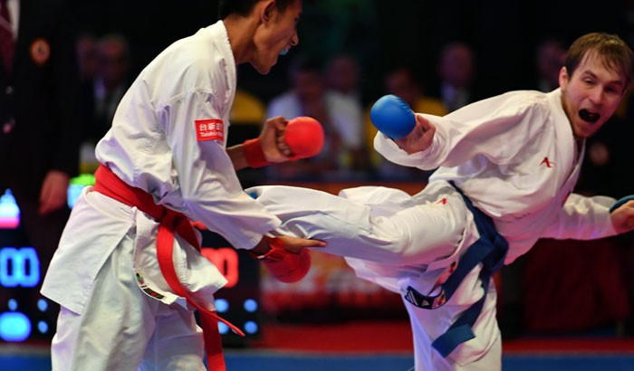 Record attendances have been reported at karate events in 2017 ©WKF