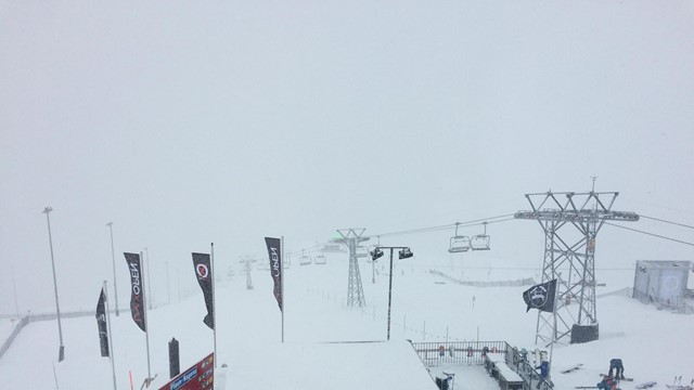 Slopestyle qualifiers brought forward but cancelled due to heavy snowfall at FIS Snowboard World Cup in Laax