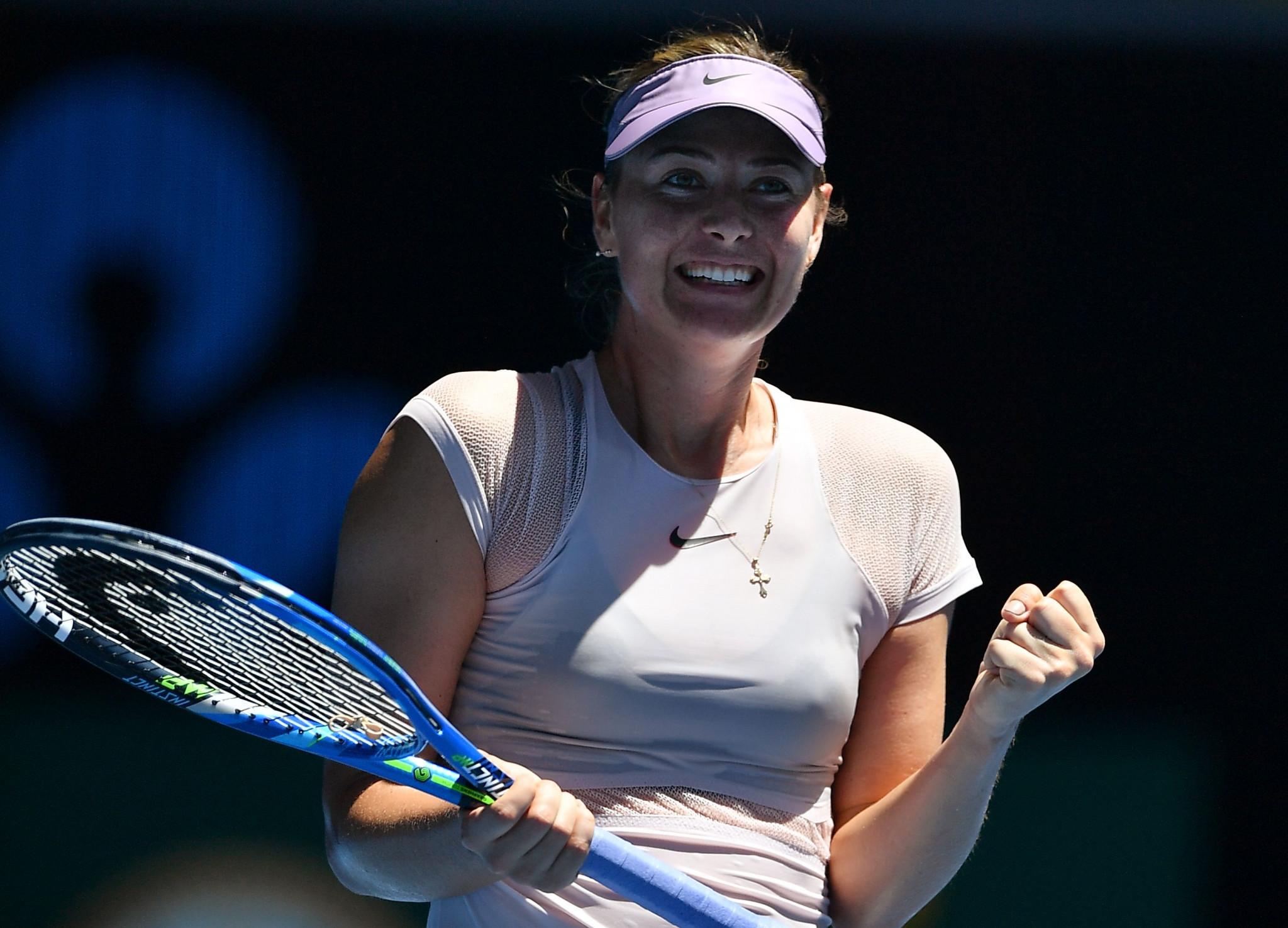 Sharapova and Djokovic through on day two of Australian Open