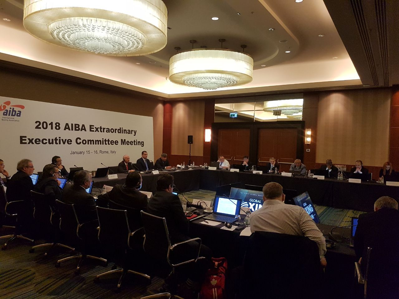 The first Executive Committee since CK Wu's departure as President took place earlier this month in Rome ©AIBA