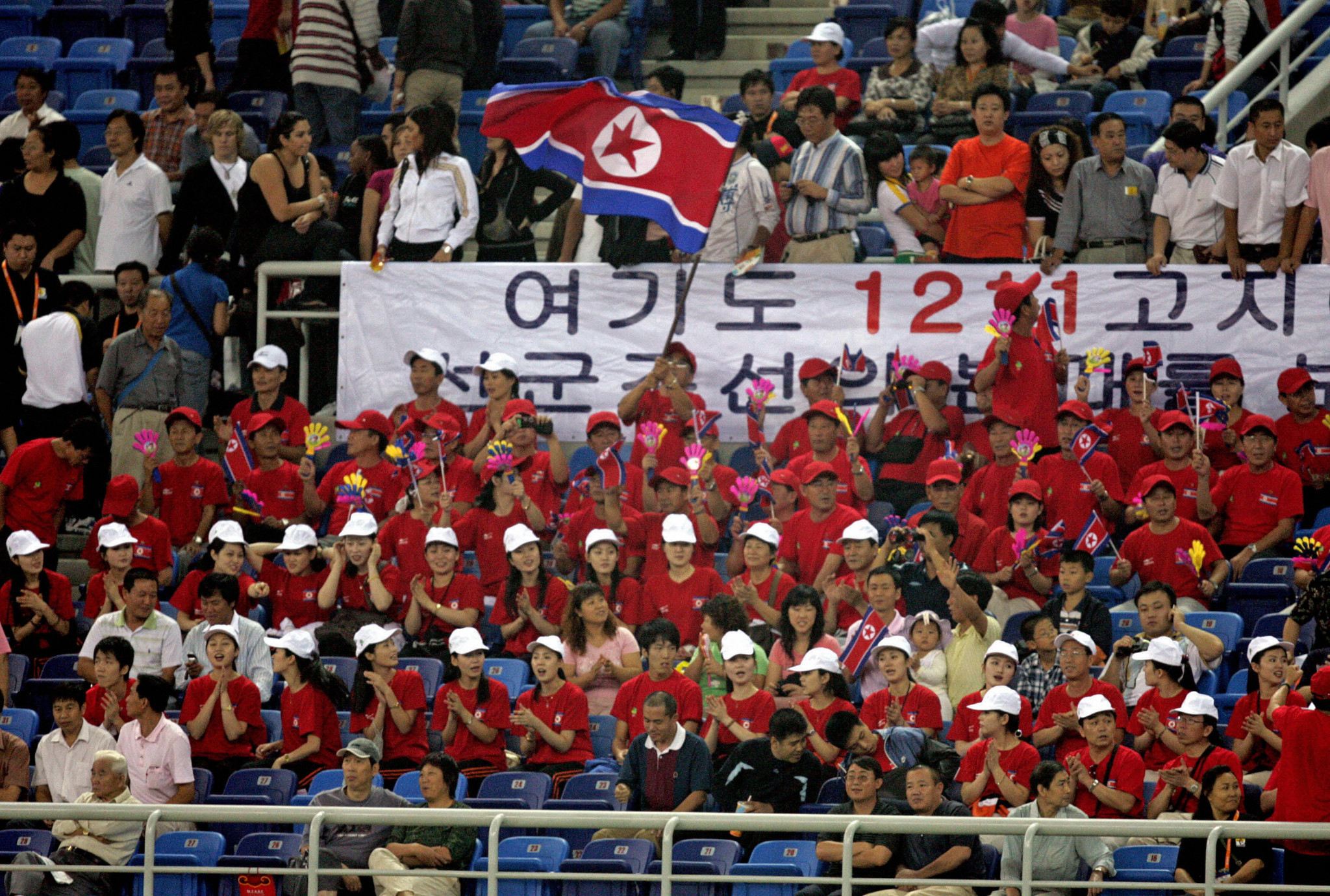 North Korea have sent cheerleading squads to South Korea three times ©Getty Images