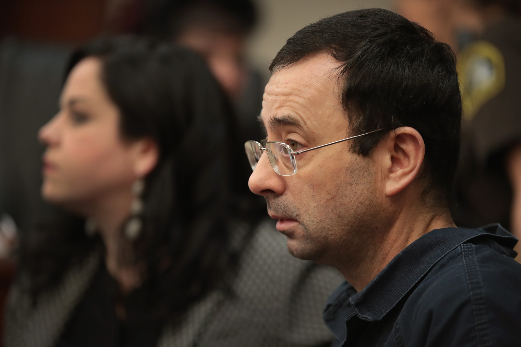 Larry Nassar appears in court as the hearing begins ©Getty Images