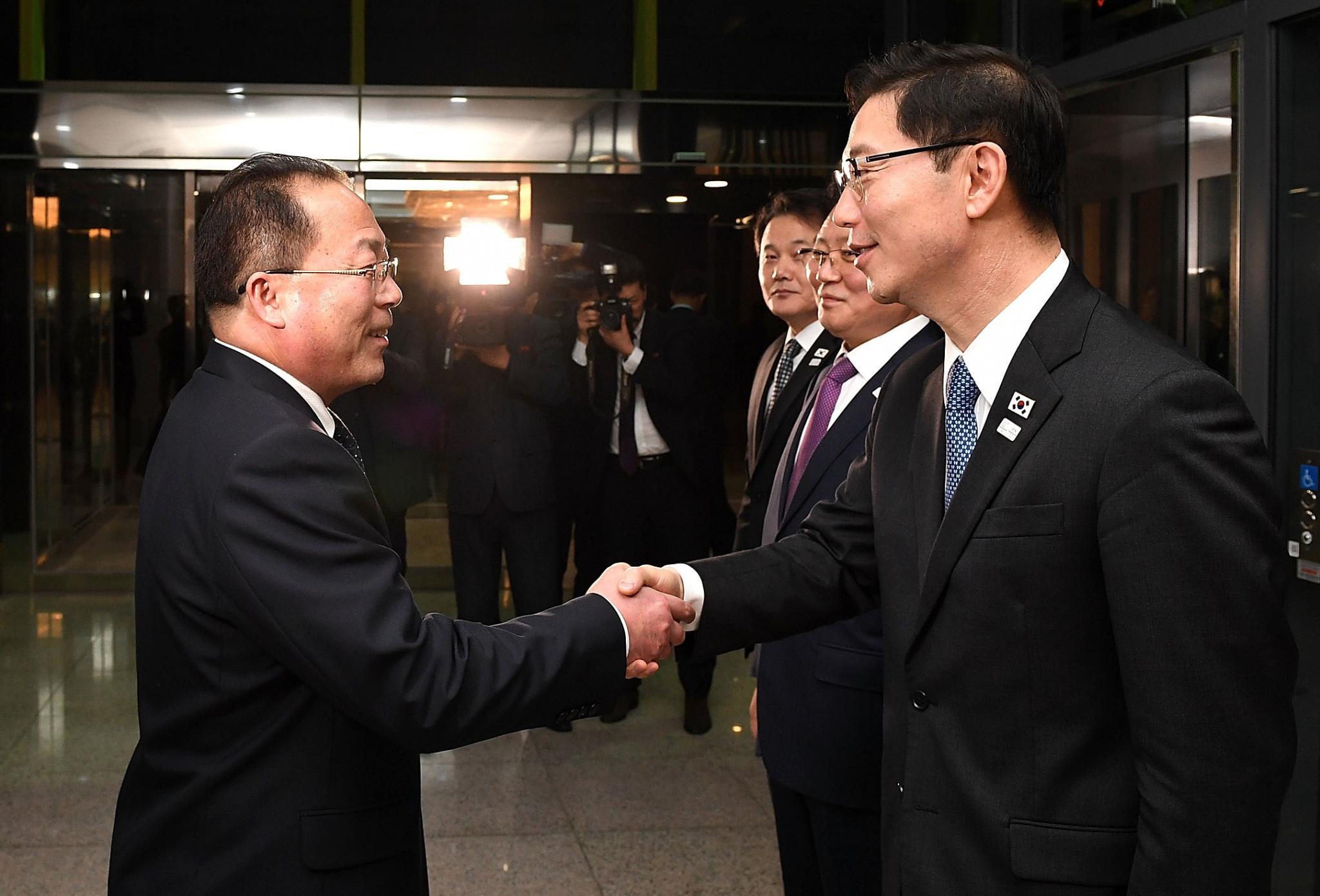 Talks between North Korea and South Korea have begun prior to Pyeongchang 2018 ©Getty Images