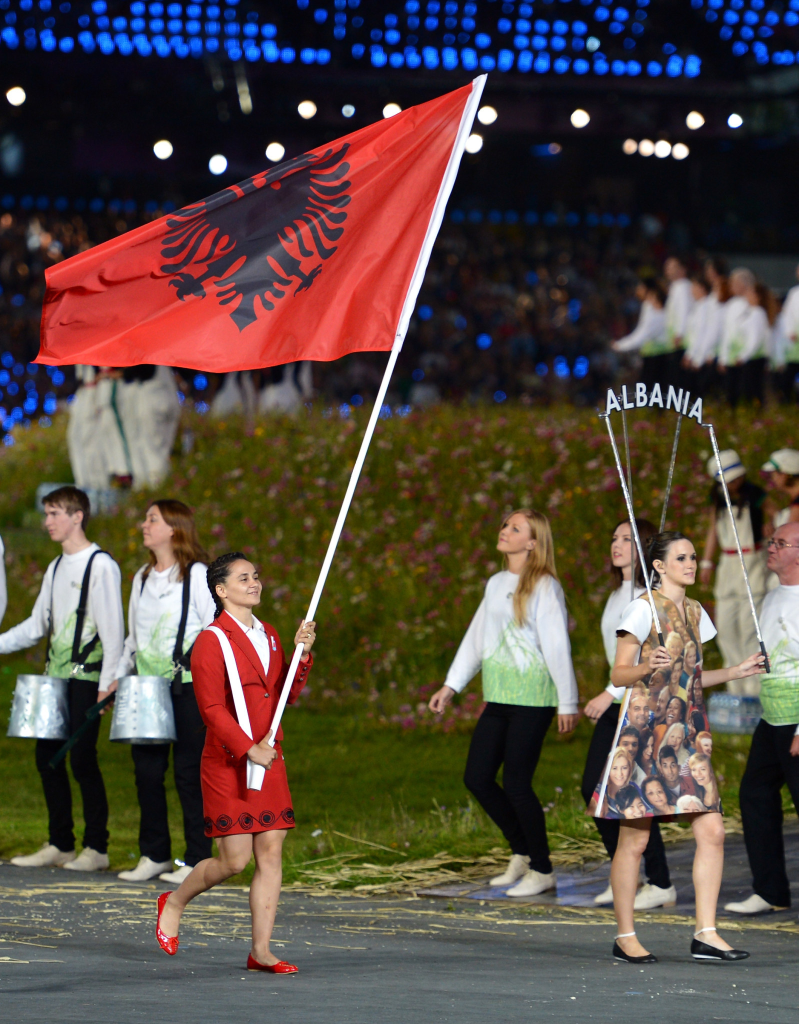 Romela Begaj had carried Albania's flag at the Opening Ceremony of London 2012 ©Getty Images