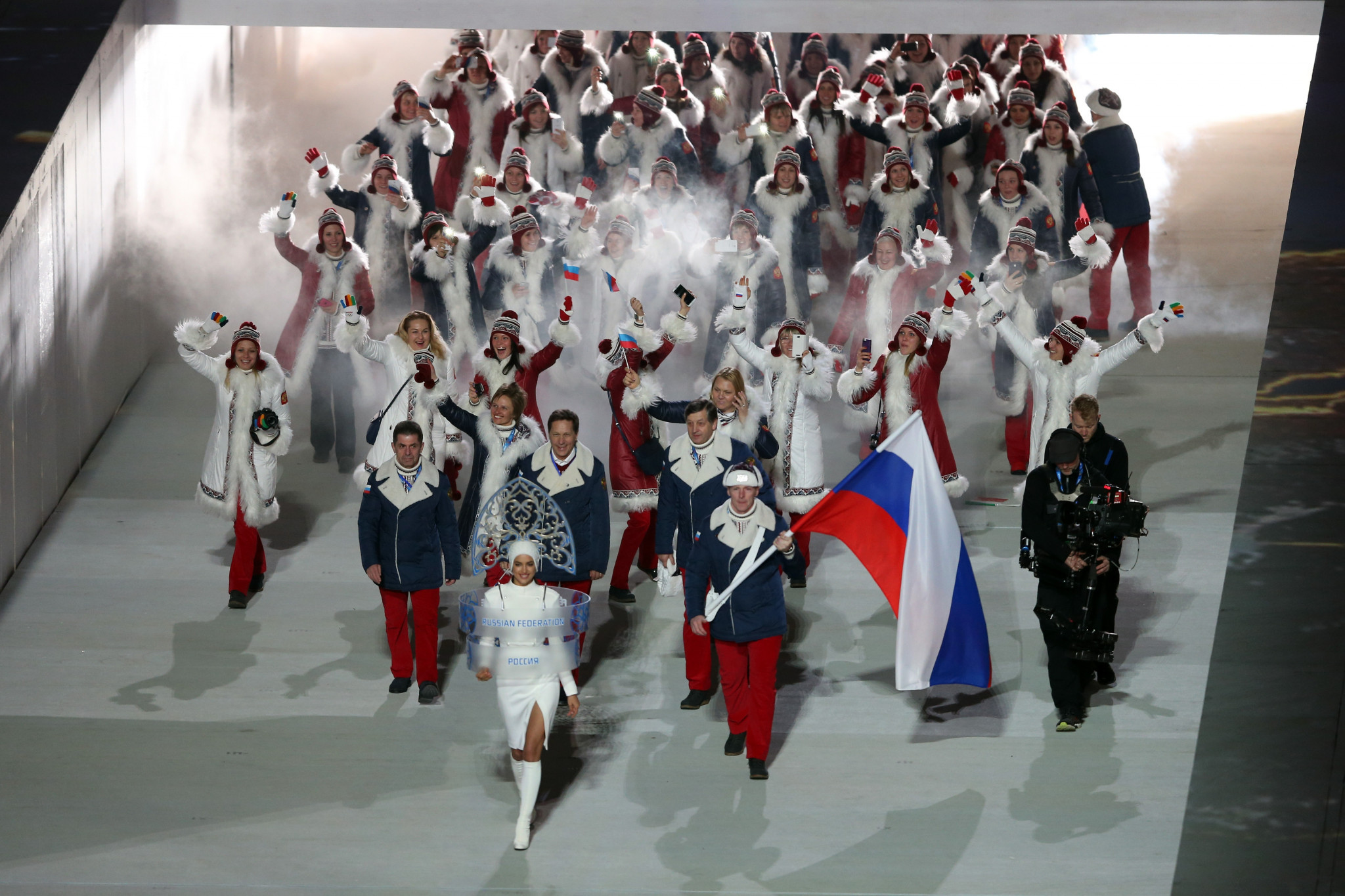 Russia are banned from marching under the country's own flag at the Opening Ceremony of Pyeongchang 2018 ©Getty Images