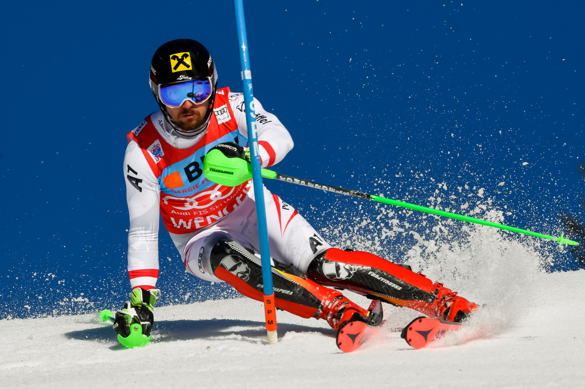 Austria's Marcel Hirscher tops the men's slalom rankings this season after winning each of the last five slalom events on the World Cup calendar ©Getty Images