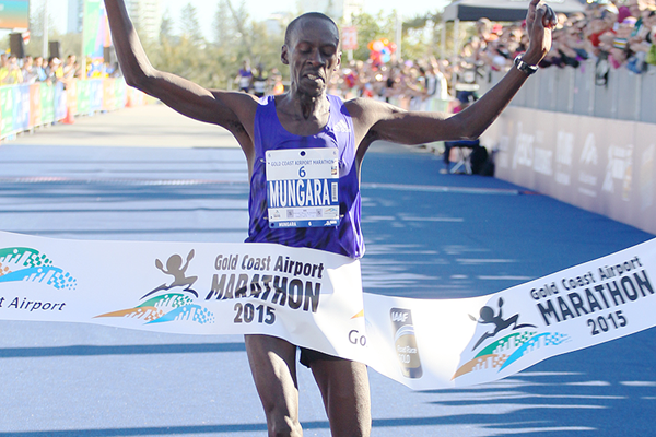 Kenneth Mburu Mungara won the Gold Coast Marathon in 2015 and 2016 and finished second in 2017 ©IAAF