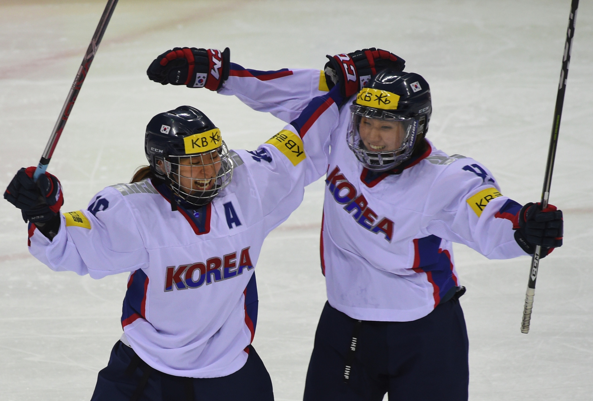 The South Korean women's ice hockey team could participate alongside North Korean players ©Getty Images