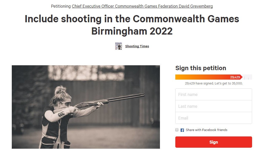 David Grevemberg has defended the omission of shooting from the Birmingham 2022 programme after an online petition was set up in an effort to include the sport ©Change.org