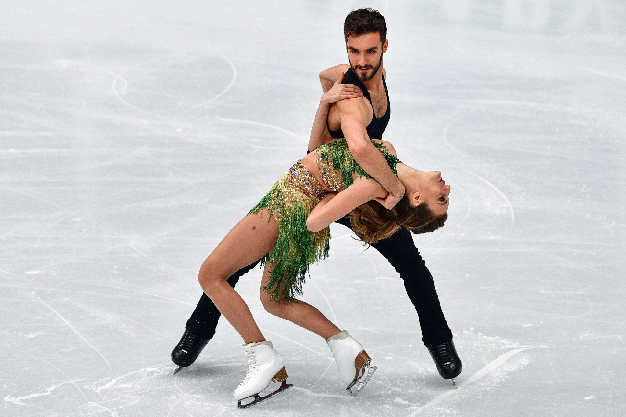French pair Gabriella Papadakis and Guillaume Cizeron took control of the ice dance competition on day three of the ISU European Figure Skating Championships ©Getty Images