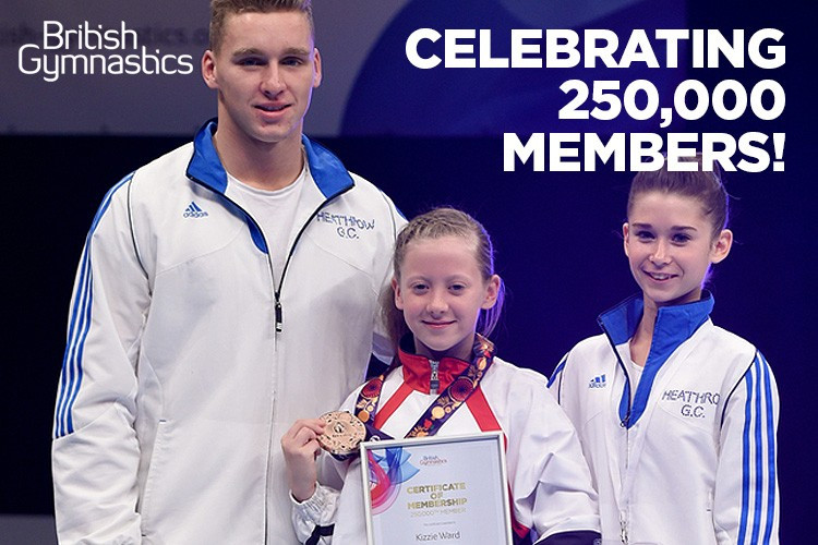 British Gymnastics reaches 250,000 members milestone