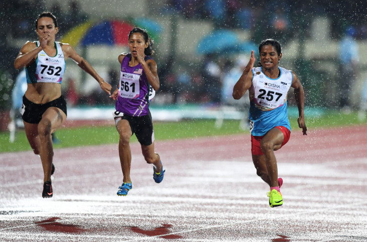 A successful appeal by India's sprinter Dutee Chand, right, saw the IAAF's hyperandrogenism regulations being temporarily suspended, leaving the status of them unclear ©Getty Images