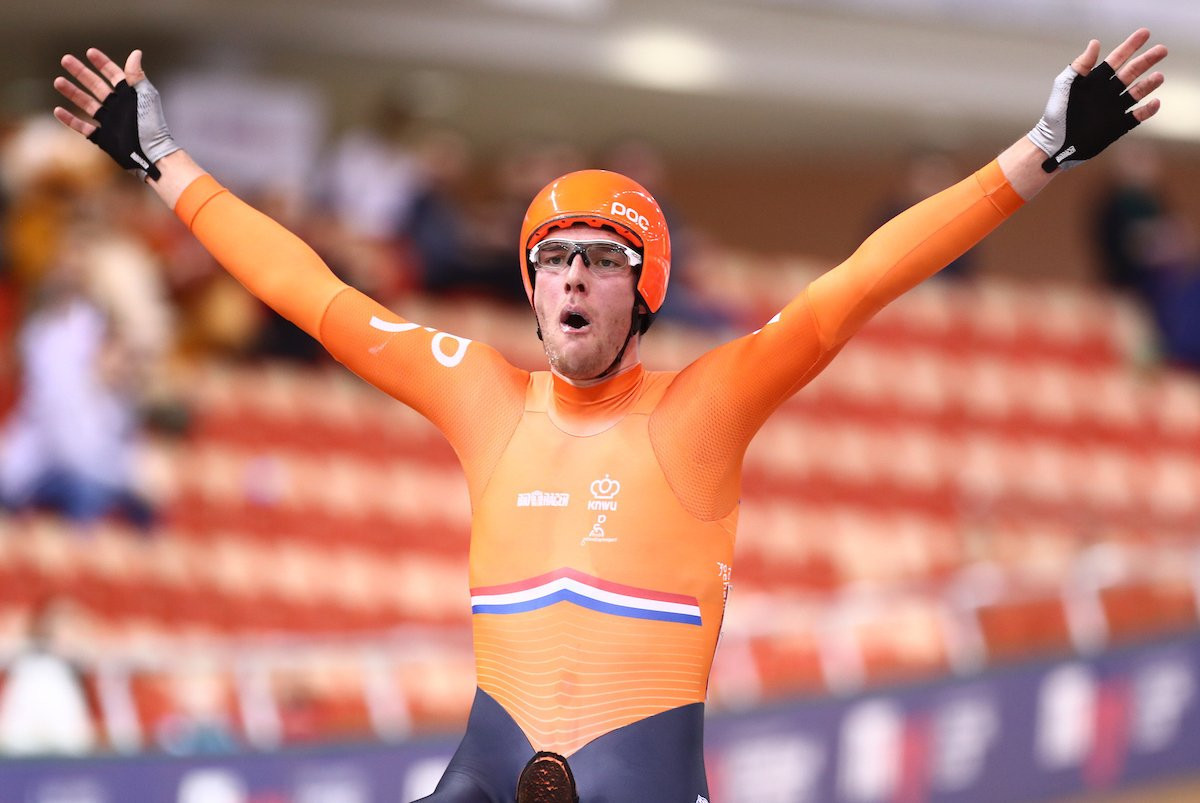 Dutch dominate opening day of UCI Track Cycling World Cup finale in Minsk