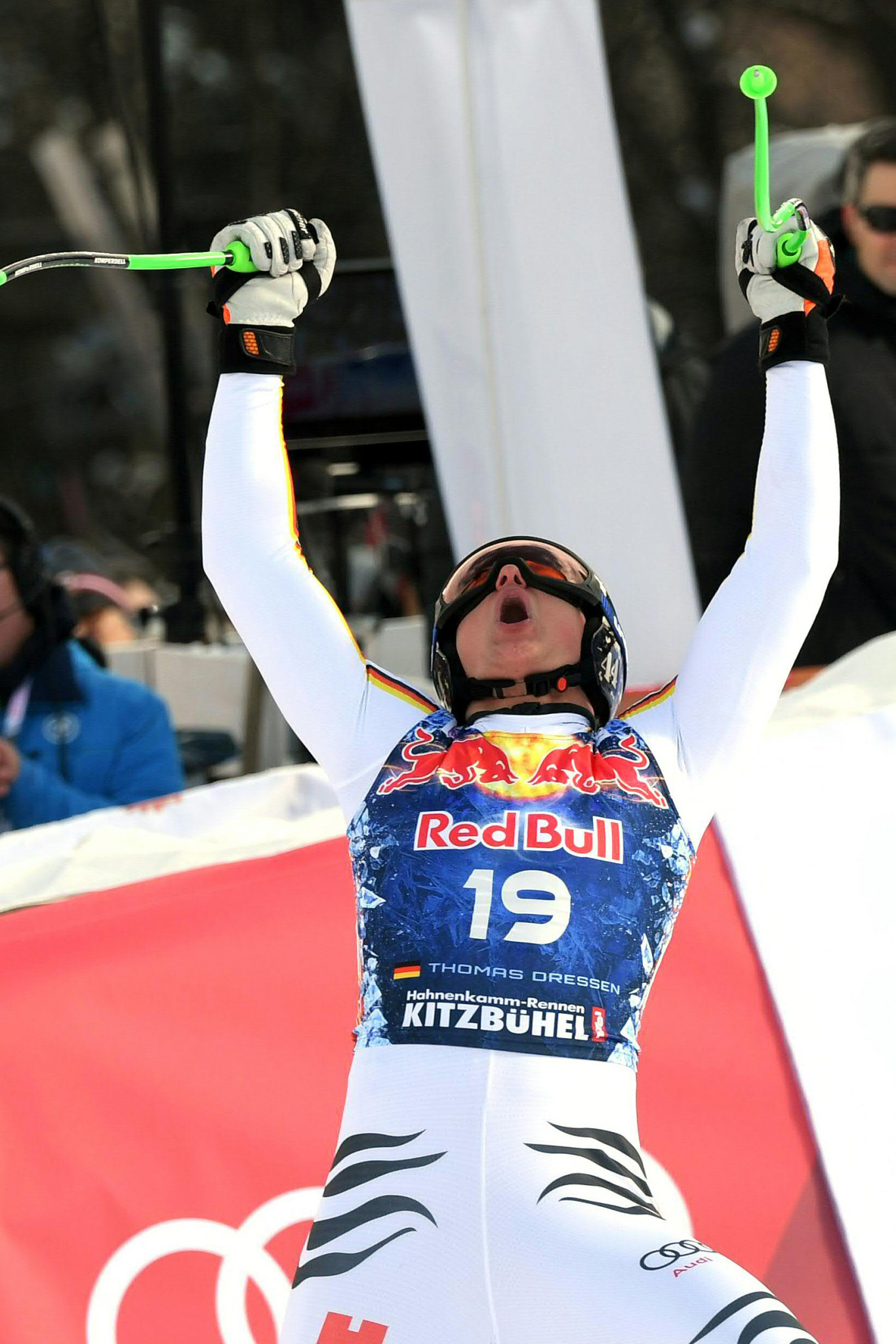 Germany's Thomas Dreßen claimed a shock downhill win in Kitzbühel ©Getty Images