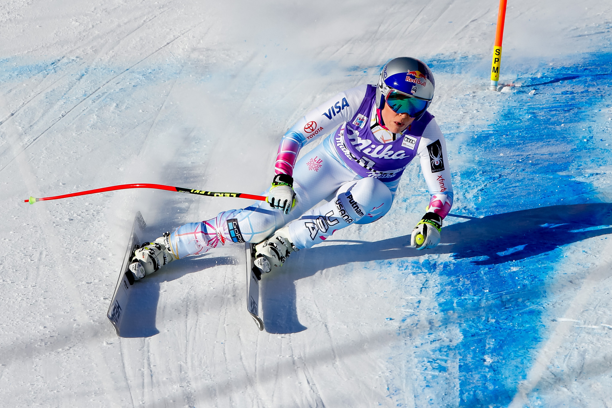 America's Lindsey Vonn is now just seven World Cup victories behind the all-time record ©Getty Images