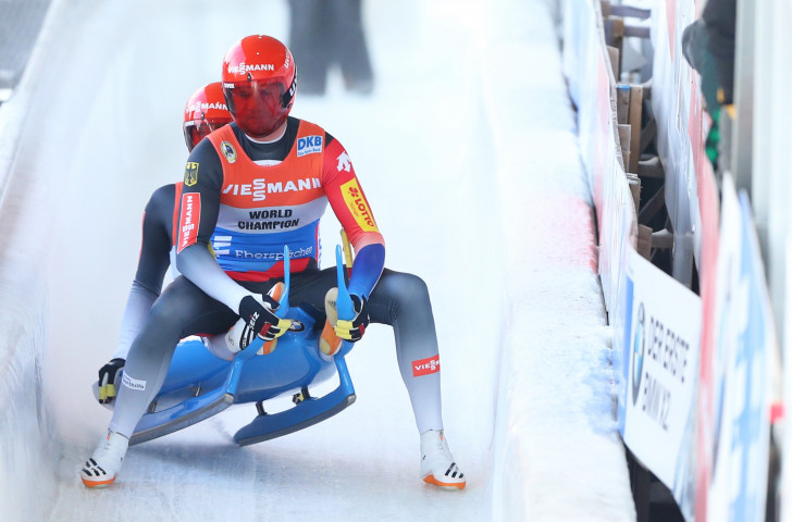Germany's Toni Eggart and Sascha Benecken secured their eighth doubles win of the Luge World Cup season in Lillehammer to extend their lead in the overall standings ©Getty Images