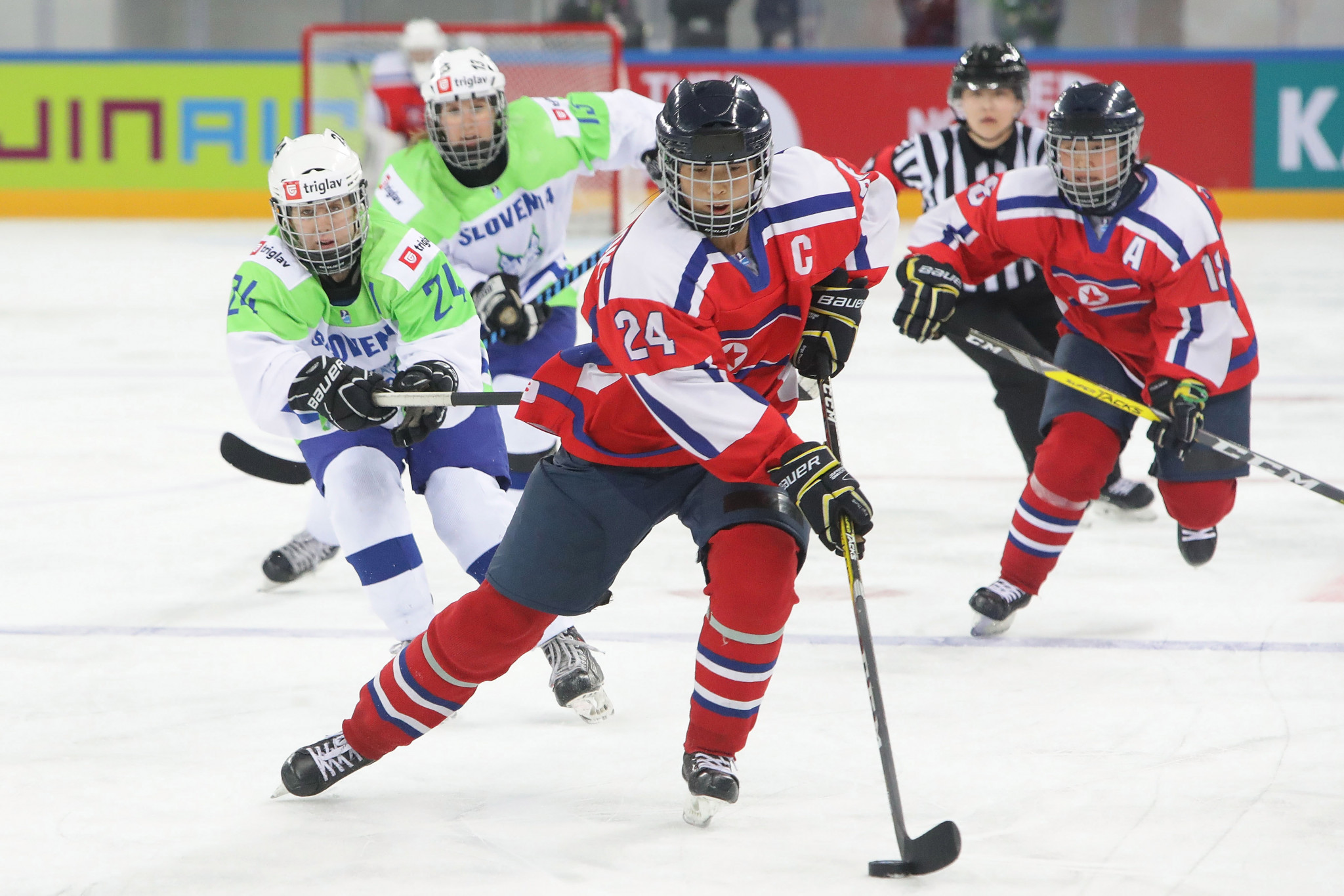 North Korea pictured at last year's divisional World Championships in Gangneung in South Korea ©Getty Images
