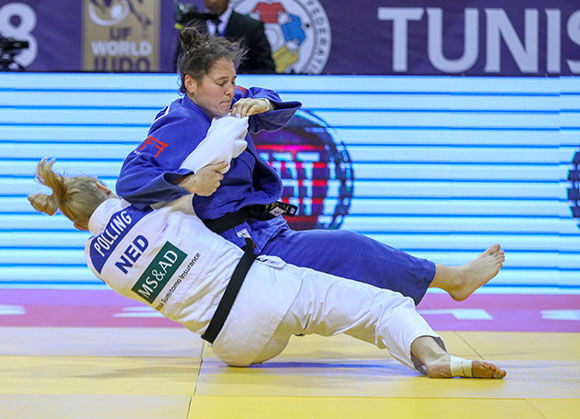 Kim Polling of The Netherlands earns victory in the under 70kg final at the IJF Grand Prix in Tunis ©IJF