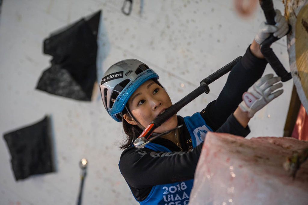 Song in harmony with Saas-Fee challenge once again as she retains UIAA Ice Climbing title