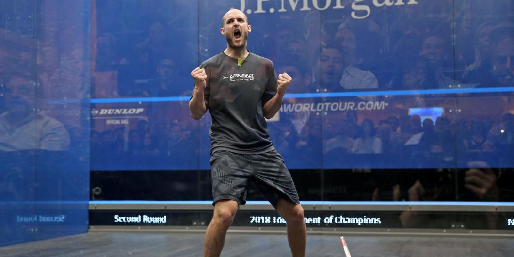 Mueller stuns defending champion to reach PSA Tournament of Champions quarter-final