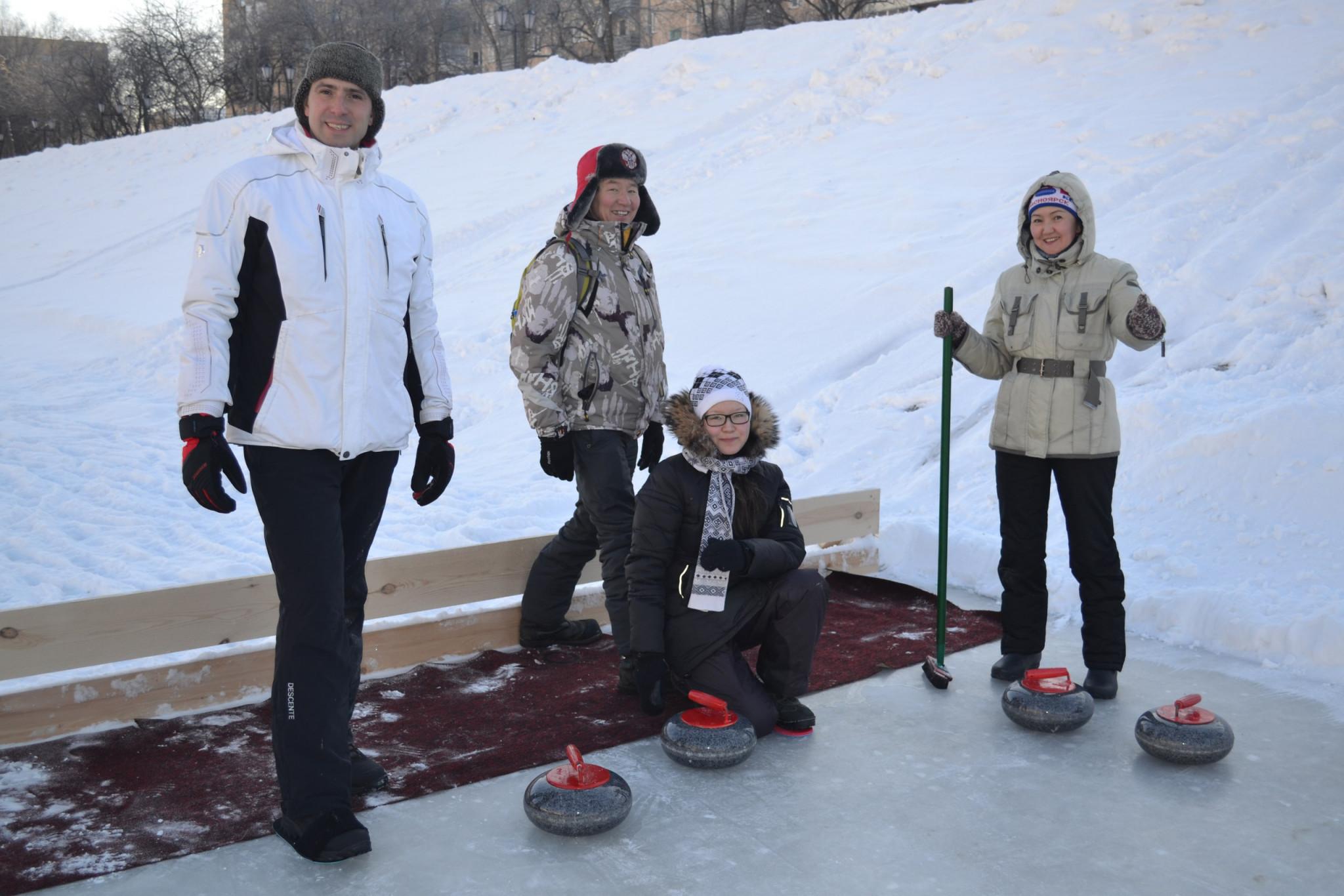 Curling competitions have been taking place across Krasnoyarsk ©Krasnoyarsk 2019