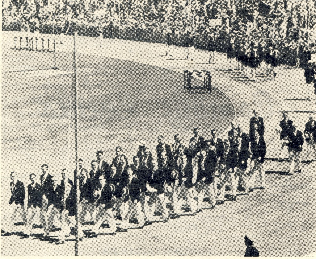 England, as the previous hosts of the British Empire Games at London in 1934, were the first country in the parade of nations at the Opening Ceremony of Sydney 1938 ©Philip Barker