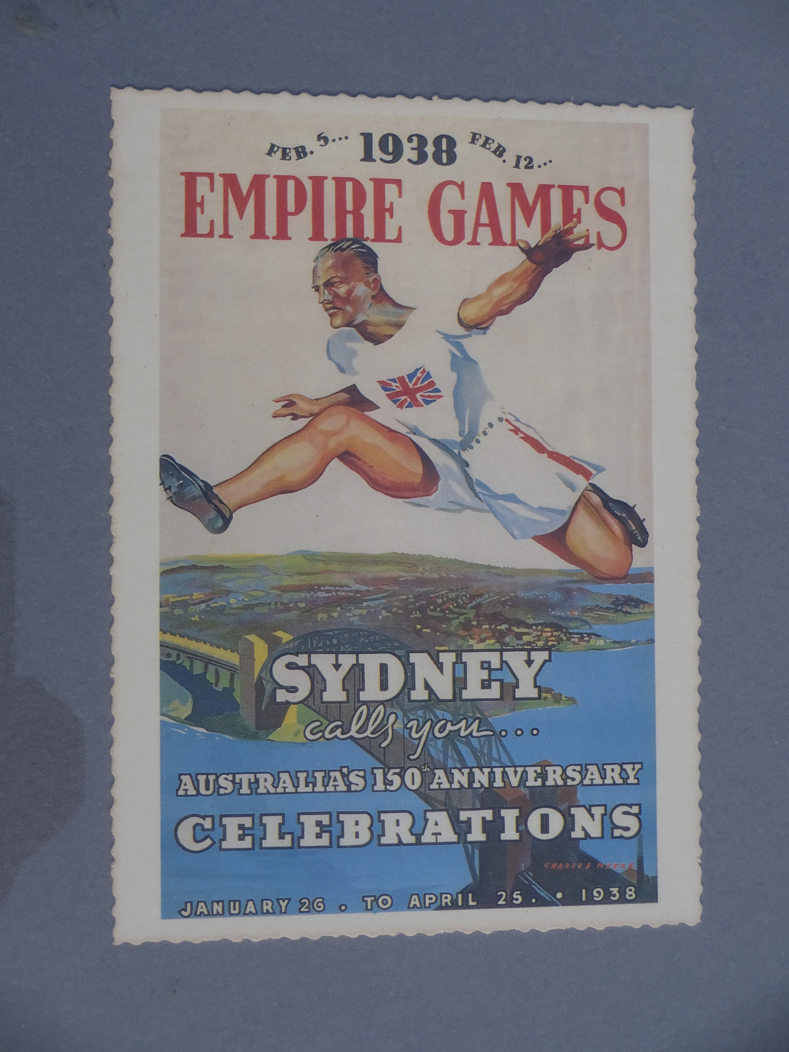 The 1938 British Empire Games in Sydney were held as an important part of the 150th anniversary of the first settlers arriving in Australia ©Philip Barker