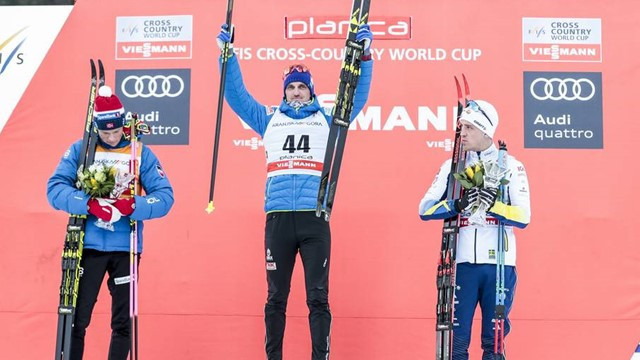 Poltoranin equals Gunde Swan's record with FIS Cross-Country World Cup 15km classic win in Planica