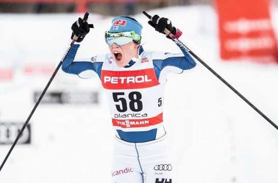 Finland's Krista Parmakoski got a long awaited win at the FIS Cross Country World Cup in Planica ©FIS