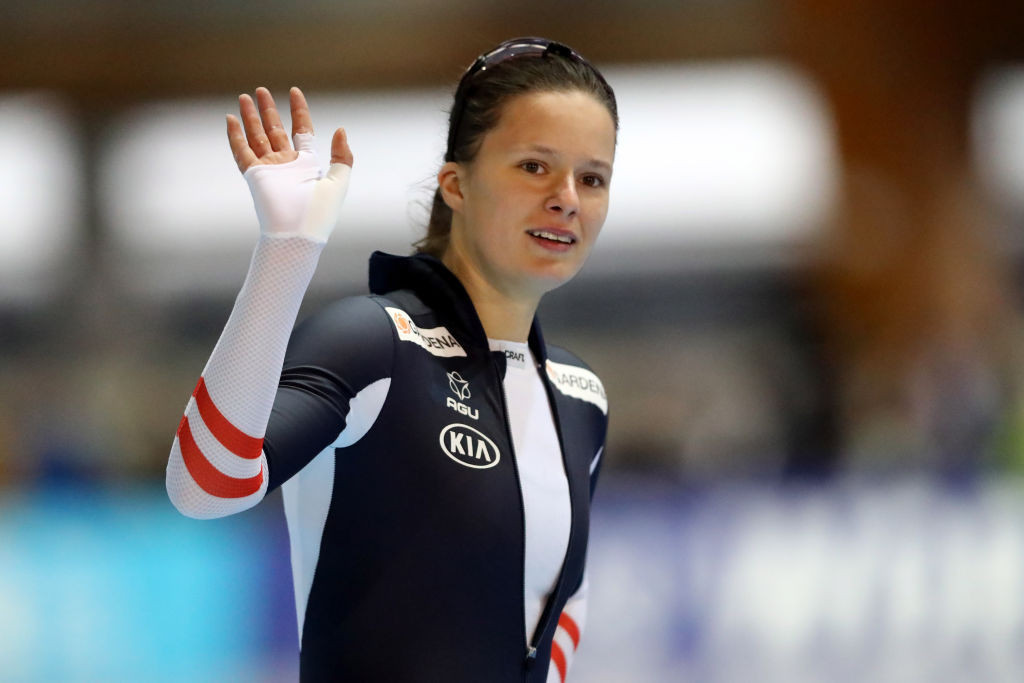 Herzog takes second gold in two days at ISU Speed Skating World Cup