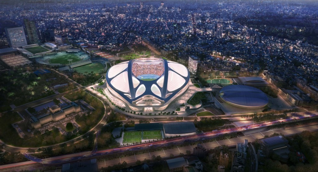 The initial design for the National Stadium was scrapped, with a downscaled plan to be developed but not in time for the World Cup, according to the Japanese Government ©Zaha Hadid Architects