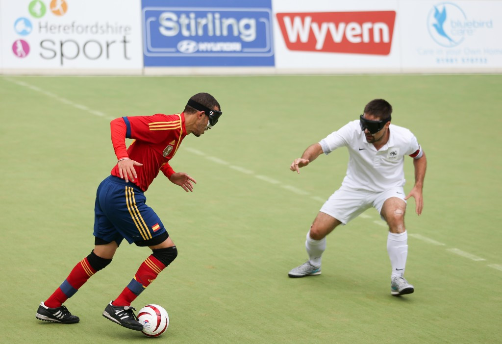 Holders Spain edge into semi-finals at IBSA Blind Football European Championships